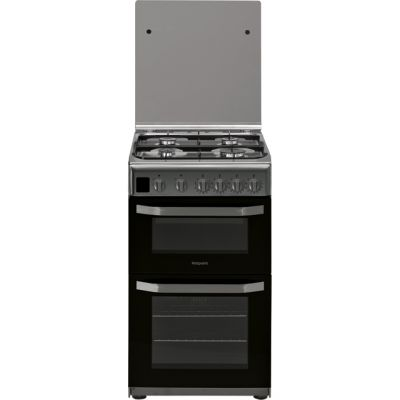 Hotpoint Cloe HD5G00CCX 50cm Gas Cooker with Full Width Gas Grill - Stainless Steel - A Rated Best Price, Cheapest Prices