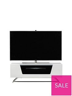 Alphason Chromium Tv Stand - Fits Up To 46 Inch Tv - White Best Price, Cheapest Prices