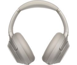 SONY WH-1000XM3 Wireless Bluetooth Noise-Cancelling Headphones - Silver Best Price, Cheapest Prices