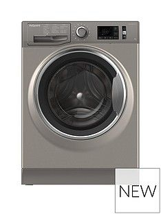 Hotpoint Active Care NM11946GCA 9kg Load, 1400 Spin Washing Machine - Graphite Best Price, Cheapest Prices