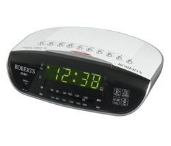 ROBERTS CR9971 Chronologic VI FM Clock Radio - Silver Best Price, Cheapest Prices