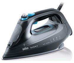 BRAUN TexStyle 9 SI9188BK Steam Iron - Black Best Price, Cheapest Prices