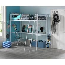 Argos Home Riley White High Sleeper Bed Frame with Desk Best Price, Cheapest Prices