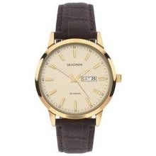 Sekonda Men's Day and Date Display Brown Leather Watch Best Price, Cheapest Prices