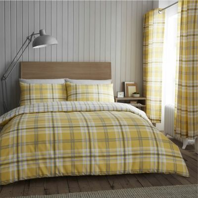 Catherine Lansfield Ochre Kelso Bedding Set - Kingsize Best Price, Cheapest Prices