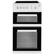 Beko KDVC563AW 50cm Double Oven Electric Cooker - White Best Price, Cheapest Prices