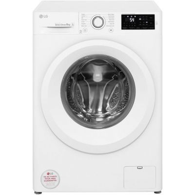 LG F4J5TN3W 8Kg Washing Machine with 1400 rpm - White - A+++ Rated Best Price, Cheapest Prices