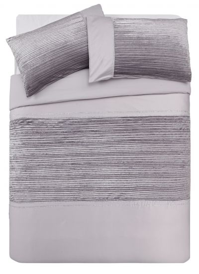Argos Home Sparkle Silver Velvet Bedding Set - Superking Best Price, Cheapest Prices