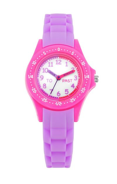 Little Tix Pink and Purple Silicone Time Teacher Watch Best Price, Cheapest Prices