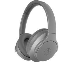 AUDIO TECHNICA QuietPoint ATH-ANC700BT Wireless Bluetooth Noise-Cancelling Headphones - Grey Best Price, Cheapest Prices