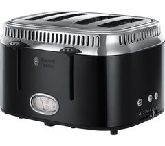 RUSSELL HOBBS Retro 21691 4-Slice Toaster - Black Best Price, Cheapest Prices