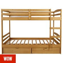 Argos Home Josie Pine Bunk Bed with Drawers Best Price, Cheapest Prices