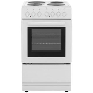 Electra SE50W Electric Cooker with Solid Plate Hob - White Best Price, Cheapest Prices