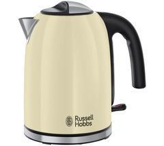 RUSSELL HOBBS Colour Plus 20415 Jug Kettle - Cream Best Price, Cheapest Prices