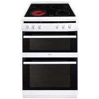 Amica AFC6520WH 60cm Double Oven Electric Cooker With Ceramic Hob - White Best Price, Cheapest Prices