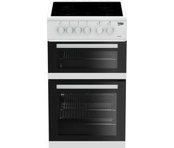 BEKO KDC5422AW 50 cm Electric Ceramic Cooker - White Best Price, Cheapest Prices