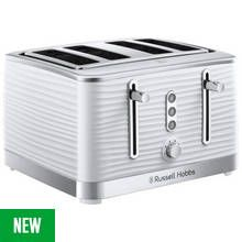 Russell Hobbs 24380 Inspire 4 Slice Toaster – White Best Price, Cheapest Prices