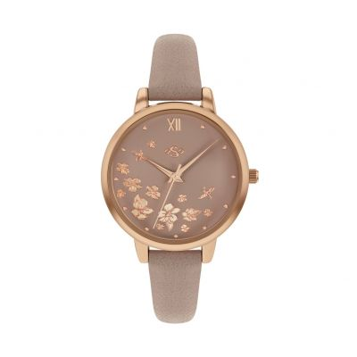 Spirit Ladies Taupe Printed Leather-Effect Strap Watch Best Price, Cheapest Prices
