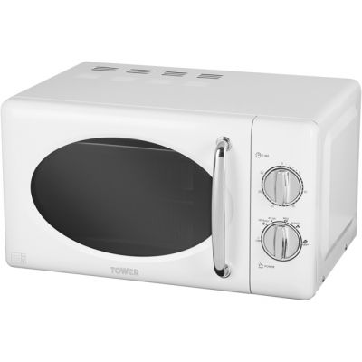 Tower T24017 20 Litre Microwave - Silver Best Price, Cheapest Prices