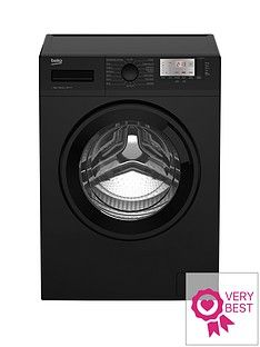 Beko WTG941B1B 9kg Load, 1400 Spin Washing Machine - Black Best Price, Cheapest Prices