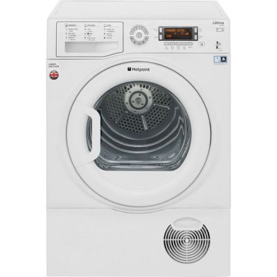 Hotpoint Ultima S-Line SUTCD97B6PM 9Kg Condenser Tumble Dryer - White - B Rated Best Price, Cheapest Prices
