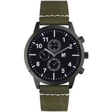 Spirit Men's Green Faux Leather Strap Chronograph Watch Best Price, Cheapest Prices