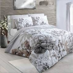 Argos Home Natural Floral Bloom Bedding Set - Double Best Price, Cheapest Prices