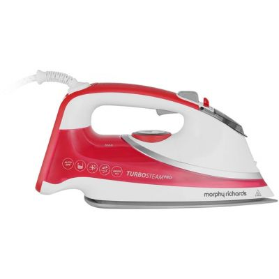 Morphy Richards 303124 2800 Watt Iron -White / Red Best Price, Cheapest Prices