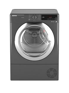 Hoover Dynamic Next DXC8TCER8kgLoad, Aquavision Condenser Tumble Dryer with One Touch - Graphite/Chrome Best Price, Cheapest Prices