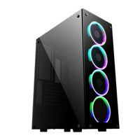 GameMax Predator RGB, Black, Full Tower Gaming Chassis, Tempered Glass, ATX/MicroATX/Mini-ITX, 4x120mm RGB LED Fans Best Price, Cheapest Prices