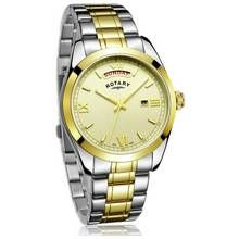 Rotary Men's Two Tone Stainless Steel Bracelet Watch Best Price, Cheapest Prices