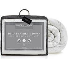 Downland Duck Feather Down All Seasons 15 Tog Duvet - Double