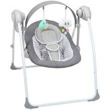 Badabulle Comfort Swing Bouncer - White/Grey Best Price, Cheapest Prices