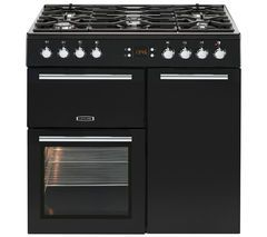 LEISURE AL90F230K Dual Fuel Range Cooker - Black Best Price, Cheapest Prices