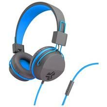 JLab JBuddies Kids Headphones - Grey/ Blue Best Price, Cheapest Prices