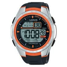 Lorus Men's Black Silicon Strap Orange Detail Digital Watch Best Price, Cheapest Prices