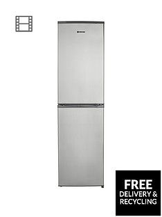 Hoover HFF195XK55cm Frost Free Fridge Freezer - Stainless Steel Best Price, Cheapest Prices