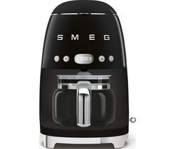 SMEG 50's Retro DCF02BLUK Filter Coffee Machine - Black Best Price, Cheapest Prices
