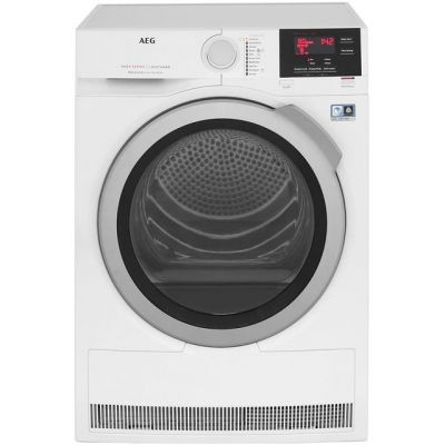 AEG AbsoluteCare Technology T8DBG842R 8Kg Heat Pump Tumble Dryer - White - A++ Rated Best Price, Cheapest Prices