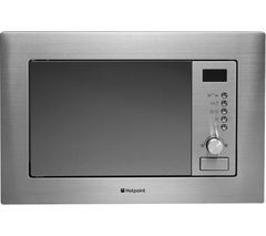HOTPOINT MWH 122.1 X Built-in Microwave with Grill - Stainless Steel Best Price, Cheapest Prices