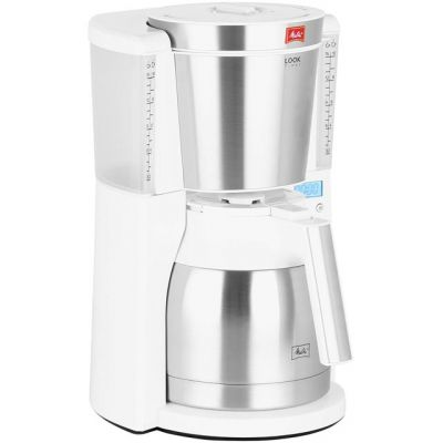 Melitta Look IV Therm Timer 6738037 Filter Coffee Machine with Timer - White Best Price, Cheapest Prices