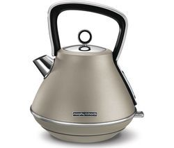 MORPHY RICHARDS Evoke Premium Traditional Kettle - Platinum Best Price, Cheapest Prices