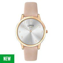 Limit Ladies' Rose Gold Plated Three Hand Pink Strap Watch Best Price, Cheapest Prices