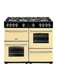 Belling 100G Farmhouse 100cm Gas Range Cooker - Cream Best Price, Cheapest Prices