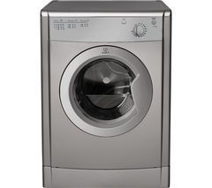 INDESIT Ecotime IDV75S Vented Tumble Dryer - Silver Best Price, Cheapest Prices