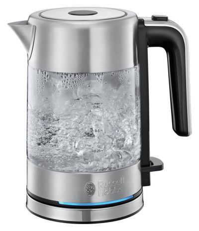Russell Hobbs 24191 Compact Kettle - Glass Best Price, Cheapest Prices