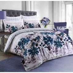 Argos Home Teal Garden Flowers Bedding Set - Double Best Price, Cheapest Prices