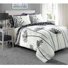 Argos Home Grey Meadow Bedding Set – Kingsize Best Price, Cheapest Prices
