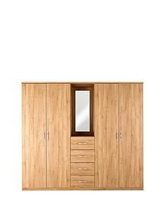 Peru 4-Door, 4-Drawer Combi Fitment Wardrobe Best Price, Cheapest Prices