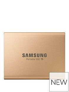 Samsung SSD Ext 1TB T5 Rose Gold USB3.1 Gen2 USB-C Best Price, Cheapest Prices